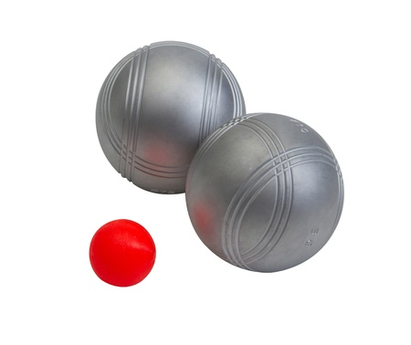 Petanque metallic ball the international sport games Stock Photo - 16653709