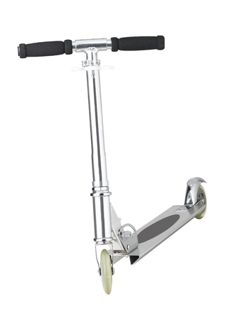 isolates: Silver scooter for children activity isolates