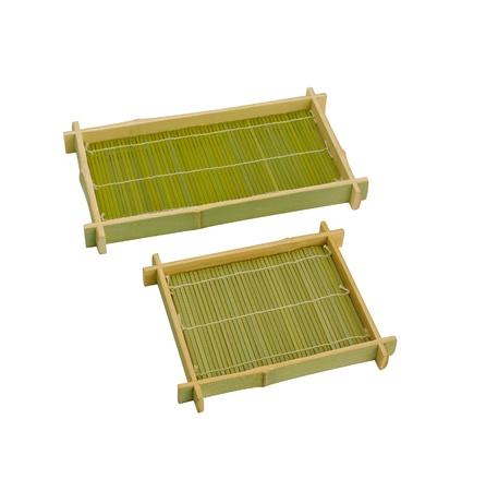 isolates: Empty Sushi bamboo basket for put Japanese food isolates