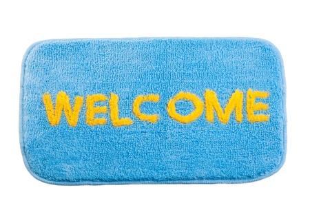 Nice welcome cleaning foot mat isolated