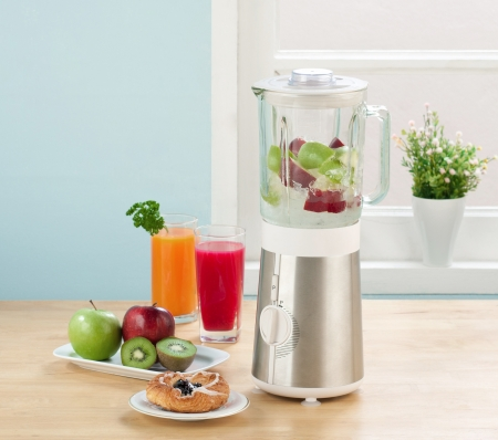 electric mixer: Juice blender machine in the kitchen