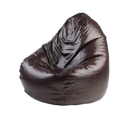 beanbag: beanbag a comfortable seat isolated