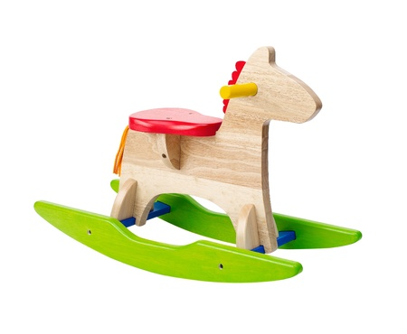 Cute rocking horse chair children could enjoy the riding photo