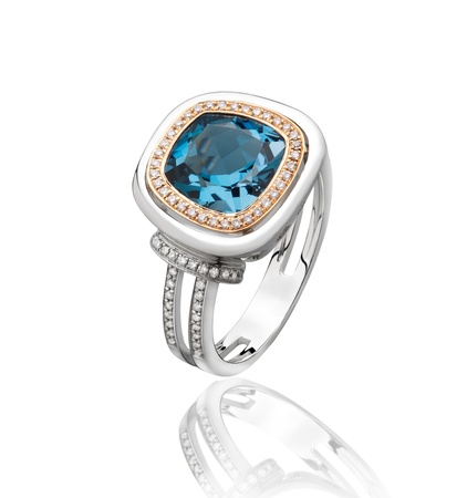 Greatest gift the blue sapphire diamond ring