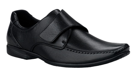 Smart and comfortable men shoe in genuine black leather  photo