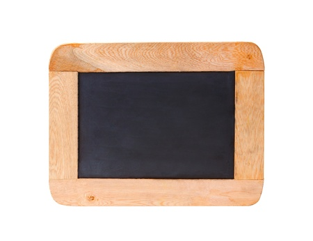 old style black board isolated on white  photo