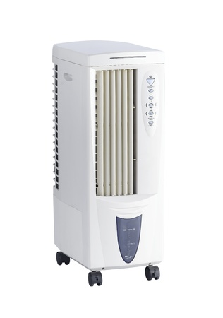 cooler: Streaming cold water fan and air conditioner machine tool  Stock Photo