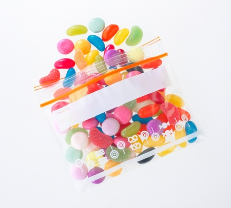 colorful candy in the zipper bag Stock Photo - 16654404