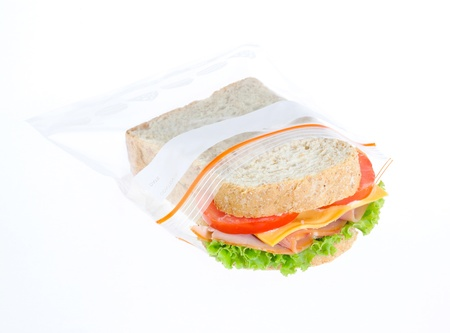 plastic made: keep your sandwiches always fresh in the zipper bag