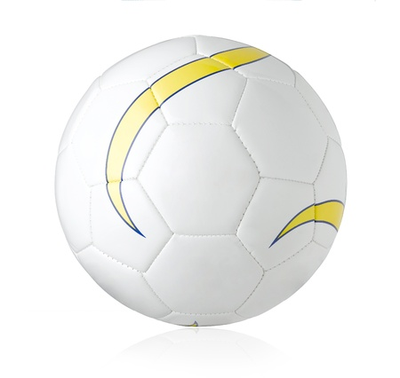 sporting goods: Nice and soft football for all soccer isolated  Stock Photo
