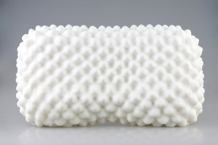 hygienic: latex material inside the hygienic pillow to protects mite dust and support your neck Stock Photo
