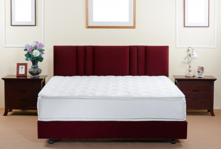 latex: perfect mattress not only beautiful but must be supported anatomy Stock Photo
