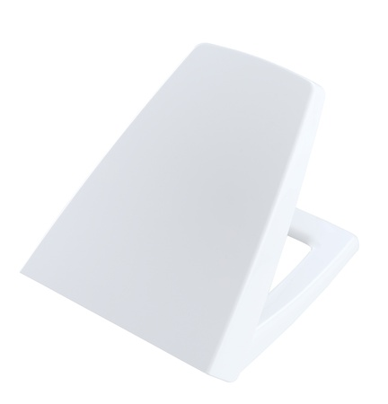 Toilet bowl cover the toilet kit accessories in white color Stock Photo - 16801476