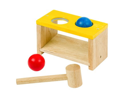 Wooden drums toy for kid to practice there hands  Stock Photo