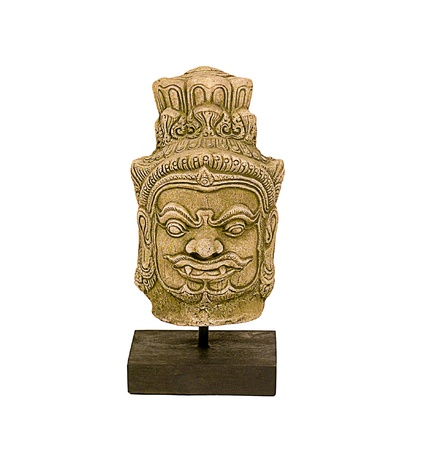 fringes: statue in the mythology of the Khmer empire in the ancient age