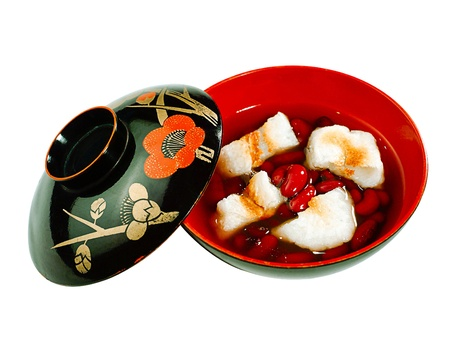 Japanese red bean dessert in syrup with bread Stock Photo - 16882776
