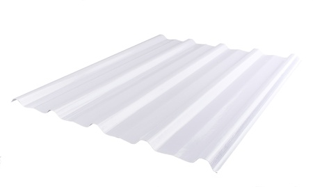 brighter: Translucent roofing sheet makes your ceiling and room more brighter Stock Photo