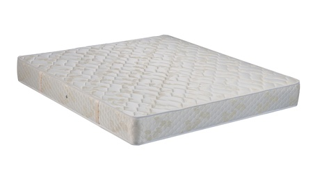 Sleep well all night with best quality mattress isolated photo