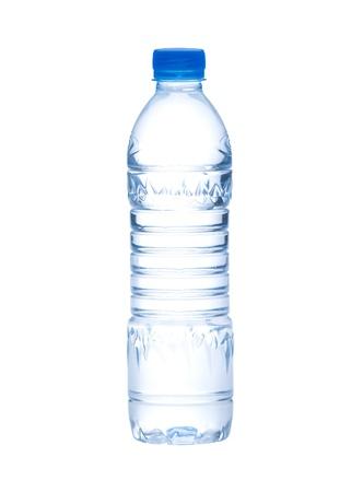 botellas vacias: Botella vacía de agua potable y claro que necesitábamos para poner una nueva marca o signo