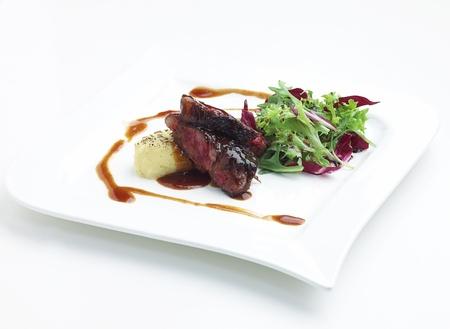 european food: Tajima carne filete wiagyu un gran sabor comida europea