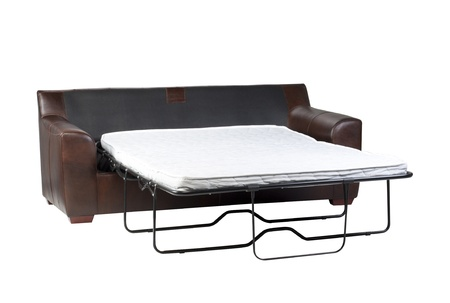 Nice design of the of fold-able sofa bed on white photo