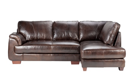 Nice and comfortable luxury genuine leather sofa bench  photo