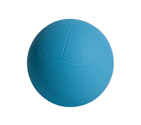 dodge: Blue dodge ball a sporting goods isolated  Stock Photo