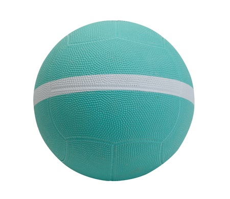 sporting goods: dodgeball with white stripe the sporting goods Stock Photo