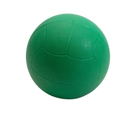 muskelaufbau: Gr�ne Medizin Ball zum Muskelaufbau und Sport-Spiele Lizenzfreie Bilder
