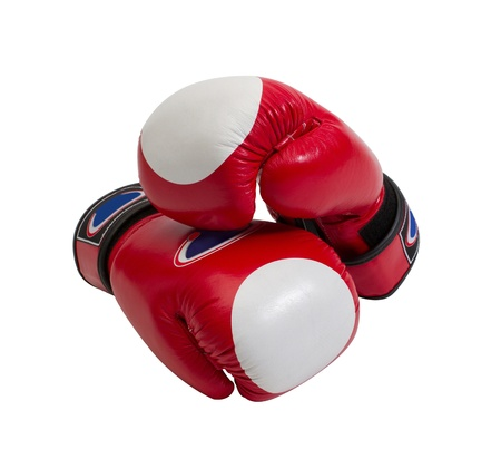 sporting goods: Red boxer gloves the popular sport fighting