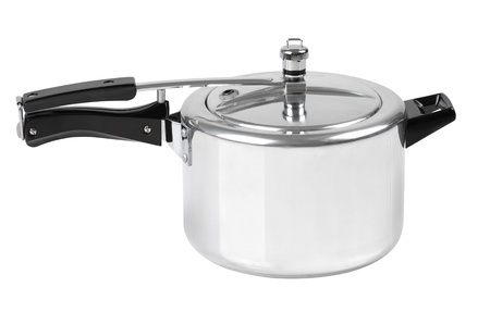 High pressure aluminum cooking pot with safety cover photo