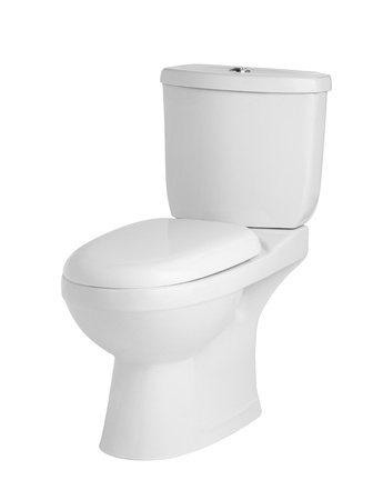 luxury sanitary toilet bowl on white background photo