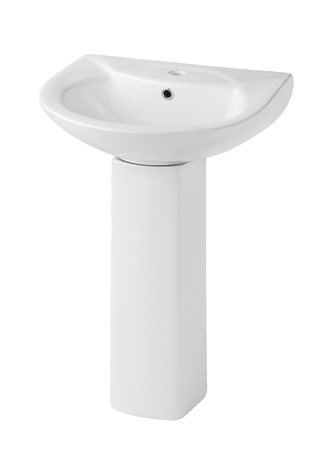 toilet bowl: Beautiful design of the washbasin isolated Stock Photo