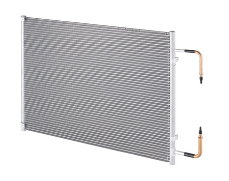 The radiator unit inside the condensing of the home and office air conditioner photo