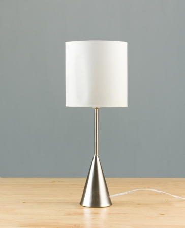 chrome base: Nice design of a lamp