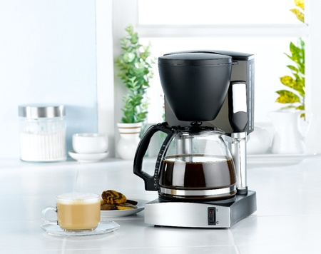 Coffee blender and boiler machine great for makes hot drinks photo