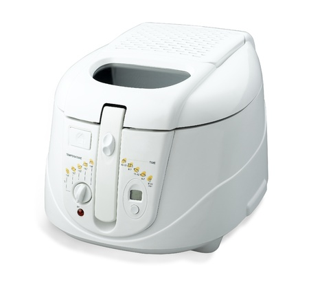rice cooker: Multiple purpose electric rice cooking pot isolated on white
