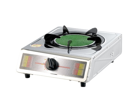 gas stove: Portable gas stove for small kitchen isolated on white