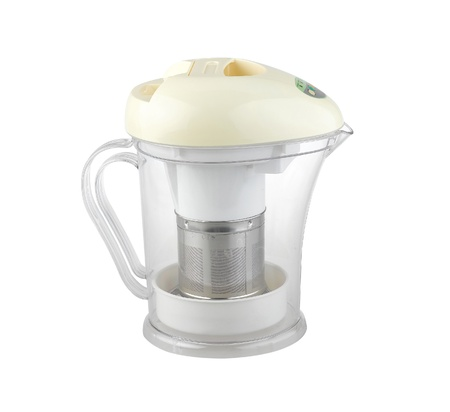 The empty of soy milk maker and blender machine isolated on white Stock Photo - 17584039