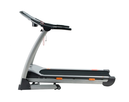 Treadmill the exercise tool in the indoor fitness room isolated  photo