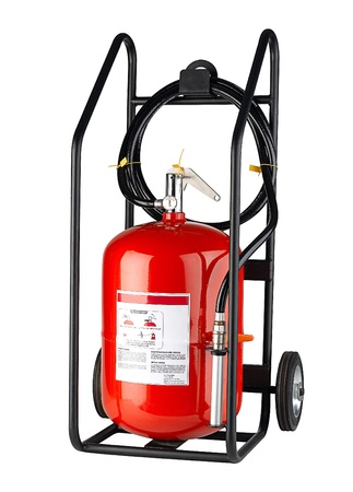 Roller fire extinguisher most useful for fire protection  photo