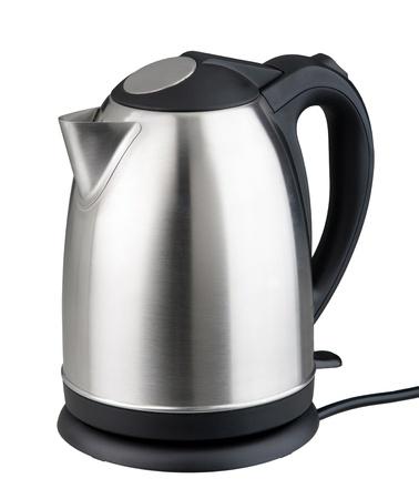 kettles: Niza diseño moderno de la caldera hervidor de agua aislado en blanco Foto de archivo