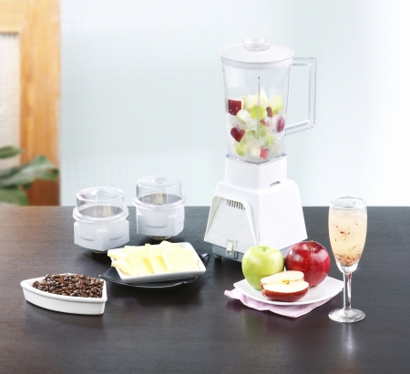Fruits juice blender machine in the kitchen Stock Photo - 18019452