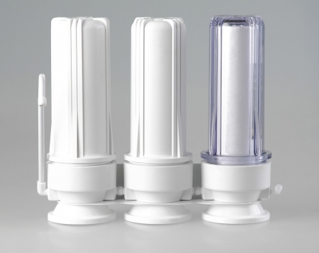 purify: concentrate water filter tanks for purify drinking water Stock Photo