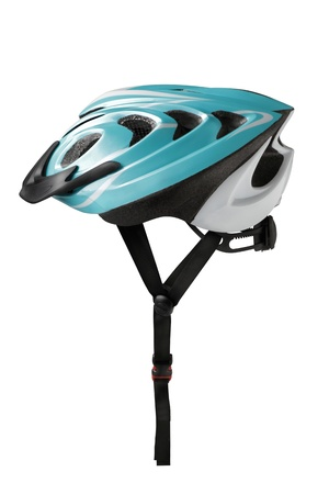 Bicycle safety helmet on white  photo