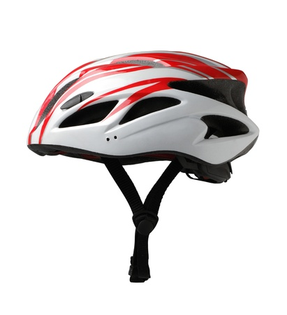 Bicycle mountain bike safety helmet isolated on white background  photo