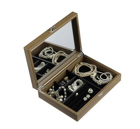 Wooden treasure box with accessory  photo