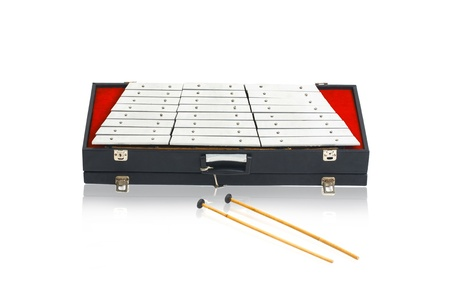 fingering: Thai steel dulcimer musical instrument isolated on white background  Stock Photo