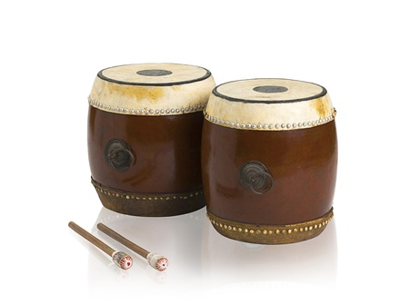 Old fashioned Thai drums musical instrument photo