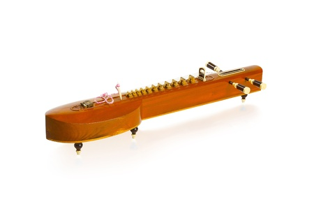 stringed: Thai zither music instrument isolated on white background  Stock Photo